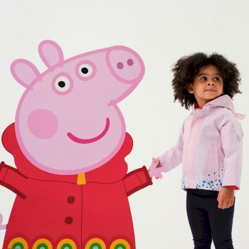 Regatta Peppa Pig Waterproof Animal Hood Jacket - Pink Mist