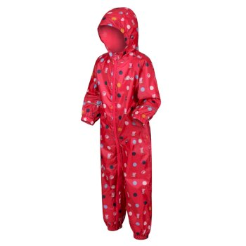 Regatta Peppa Pig Pobble Printed Waterproof Puddle Suit - Bright Blush