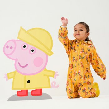 Regatta Peppa Pig Pobble Printed Waterproof Puddle Suit - Glowlight