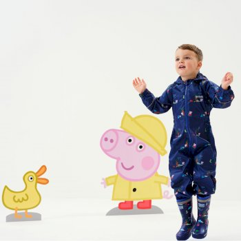 Regatta Peppa Pig Pobble Printed Waterproof Puddle Suit - New Royal