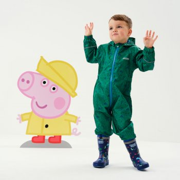 Regatta Peppa Pig Pobble Printed Waterproof Puddle Suit - Jelly Bean