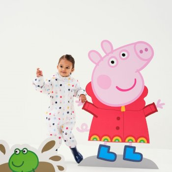 Regatta Peppa Pig Pobble Printed Waterproof Puddle Suit - White