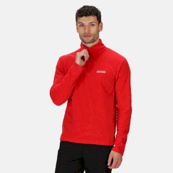 Regatta Men's Thompson Lightweight Half Zip Fleece - True Red