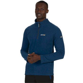 Regatta Men's Montes Half Zip Lightweight Mini Stripe Fleece Imperial Blue