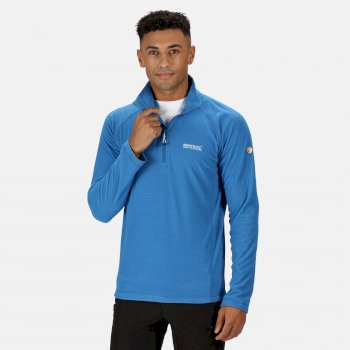 Regatta Men's Montes Lightweight Half Zip Mini Stripe Fleece - Imperial Blue