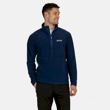 Regatta Men's Montes Lightweight Half Zip Mini Stripe Fleece - Nautical Blue