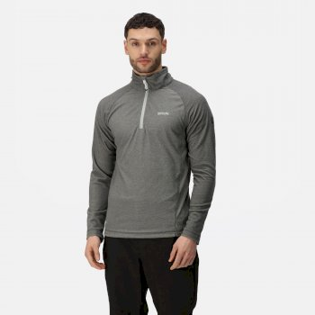 Regatta Men's Montes Lightweight Half Zip Mini Stripe Fleece Light Steel