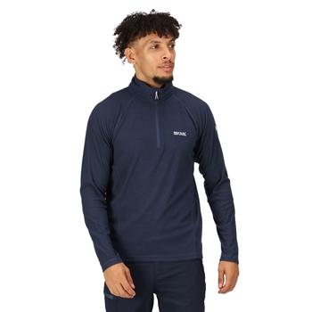 Regatta Men's Montes Lightweight Half Zip Mini Stripe Fleece - Dark Denim