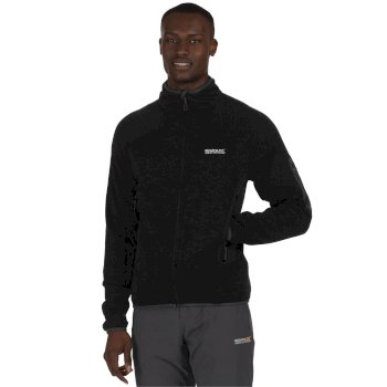 Regatta Collumbus III Marl Knit Effect Stretch Fleece Black