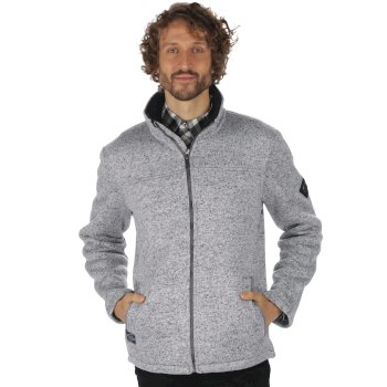 Regatta Palin Heavyweight Knit Effect Full Zip Bonded Fleece Dust