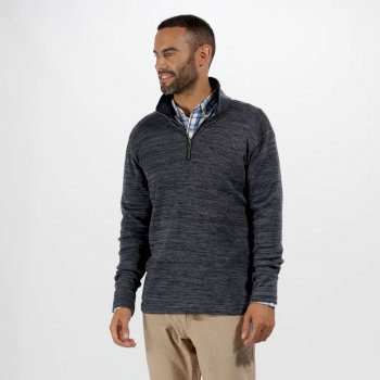 Regatta Tayson Half Zip Marl Jersey Fleece Navy