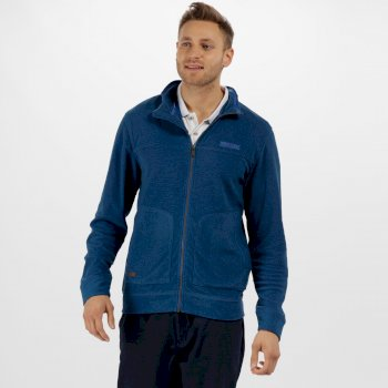 Regatta Ultar III Full Zip Mini Stripe Fleece Oxford Blue
