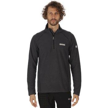 Regatta Men's Kenger Half Zip Mid Weight Honeycomb Fleece Seal Grey