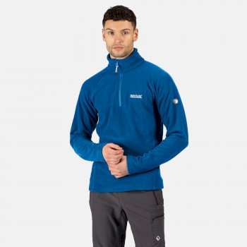 Regatta Men's Kenger Half Zip Mid Weight Honeycomb Fleece - Imperial Blue