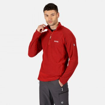 Regatta Men's Kenger Half Zip Mid Weight Honeycomb Fleece - True Red