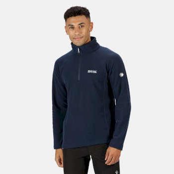 Regatta Men's Kenger Half Zip Mid Weight Honeycomb Fleece - Nightfall Navy