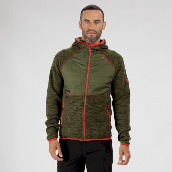 Regatta Rocknell Hybrid Knit Effect Fleece Racing Green