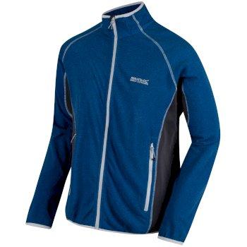 Men's Mons III Mid Weight Full Zip Fleece Oxford Blue Seal Grey