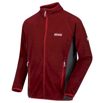 Regatta Men's Mons III Mid Weight Full Zip Fleece Pepper Seal Grey