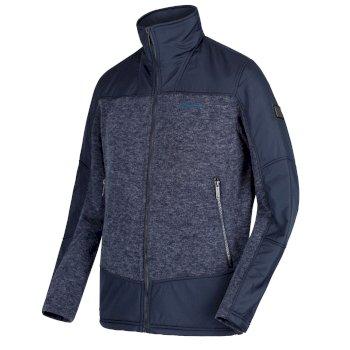 Zorian Fleece-Sweatshirt mit durchgehendem Reißverschluss für Herren Navy