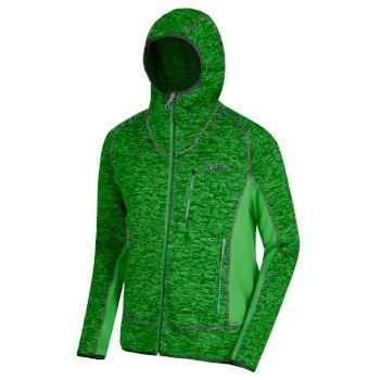 Regatta Men's Cartersville V Full Zip Knit Effect Hooded Fleece - Fairway Green