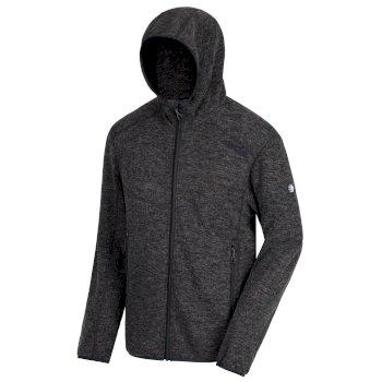Luzon Hooded Wool Effect Fleece Black
