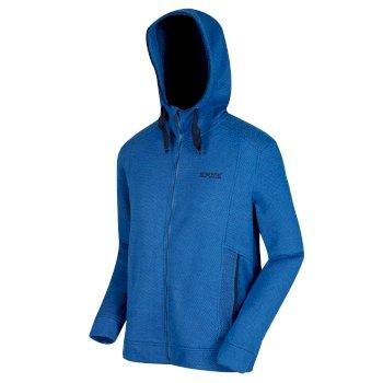 Langdon Fleece-Hoodie mit durchgehendem Reißverschluss für Herren blau