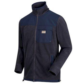 Daxter Fleece-Sweatshirt mit durchgehendem Reißverschluss und vielen Taschen für Herren Seal Grau Navy