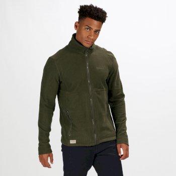 Ulan leichtes Fleece-Sweatshirt für Herren oliv mit Gitter