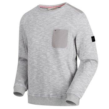 Sandor Herren-Sweatshirt mit Brusttasche grau