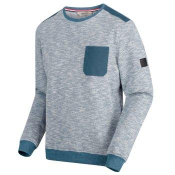 Sandor Herren-Sweatshirt mit Brusttasche Captain's Blue