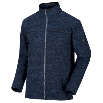 Earvin Fleece mit durchgehendem Reißverschluss für Herren Blue Wing Black