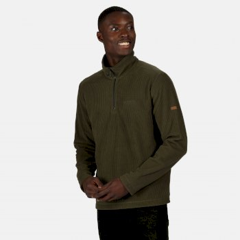 Regatta Men's Elgrid Half Zip Mid Weight Fleece - Dark Khaki Rib
