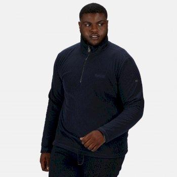 Regatta Men's Elgrid Half Zip Mid Weight Fleece - Navy Rib