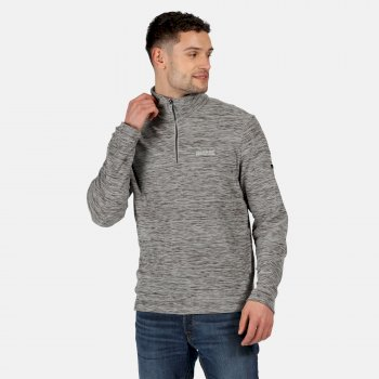 Regatta Men's Elgrid Half Zip Mid Weight Fleece - Light Steel Marl