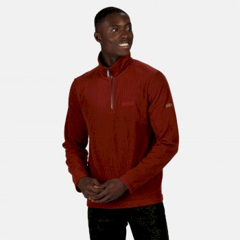 Regatta Men's Elgrid Half Zip Mid Weight Fleece - Spiced Apple Rib
