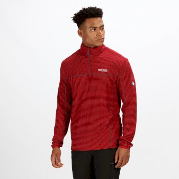 Regatta Men's Unwin Half Zip Grid Fleece Delhi Red