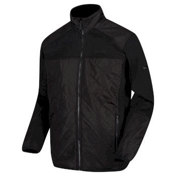 Regatta Men's Zavid Quilted Full Zip Fleece - Black
