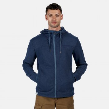 Regatta Men's Laszlo Full Zip Hooded Fleece - Navy