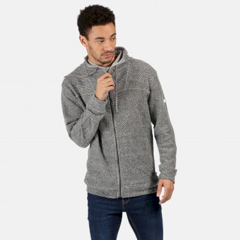 Regatta Men's Laszlo Full Zip Hooded Fleece - Rock Grey