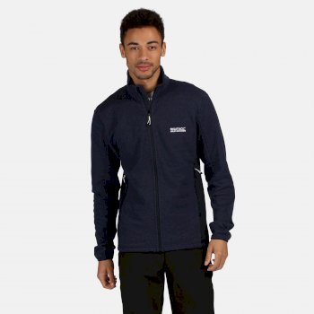 Regatta Men's Highton Stretch Lightweight Full Zip Fleece - Navy