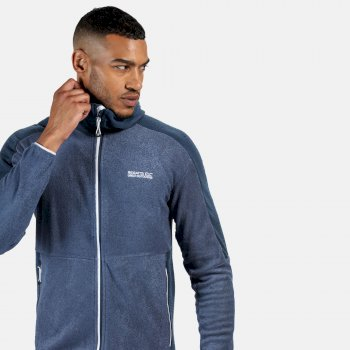 Regatta Men's Madagascar Full Zip Heavyweight Hooded Fleece - Dark Denim