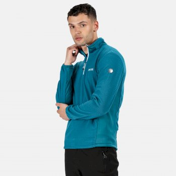 Regatta Men's Boswell Half Zip Grid Fleece - Nautical Blue Dark Denim