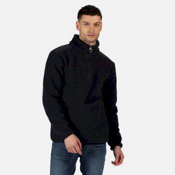 Colman robustes Fleece mit halbem Reißverschluss für Herren Blau