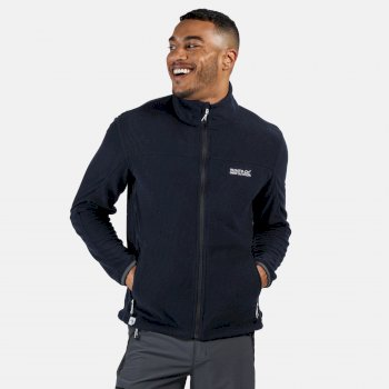 Regatta Men's Stanner Full Zip Lightweight Grid Fleece - Navy