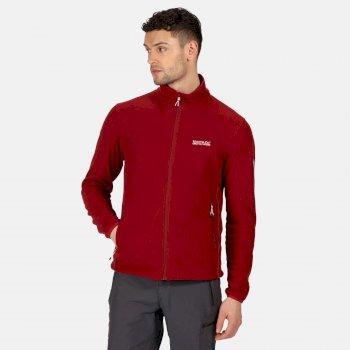 Stanner leichtes Fleece mit durchgehendem Reißverschluss für Herren Rot