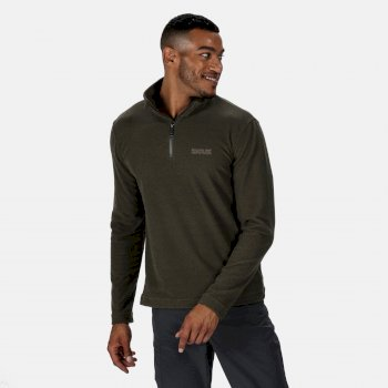 Regatta Men's Elgor II Lightweight Half Zip Fleece - Dark Khaki