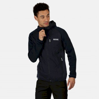 Regatta Men's Woodford Full Zip Hooded Ribbed Walking Fleece - Nightfall Navy