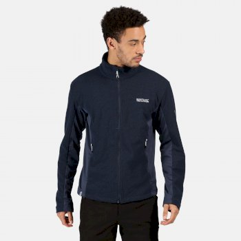 Regatta Men's Highton Winter Full Zip Two Tone Walking Fleece - Nightfall Navy