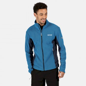 Regatta Men's Highton Winter Full Zip Two Tone Walking Fleece - Imperial Blue Nightfall Navy